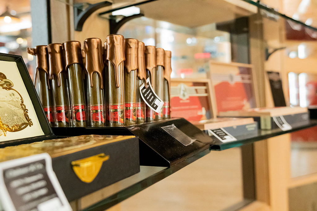 Cigars on display at Chaloner's Cigar House in Adrian, MI