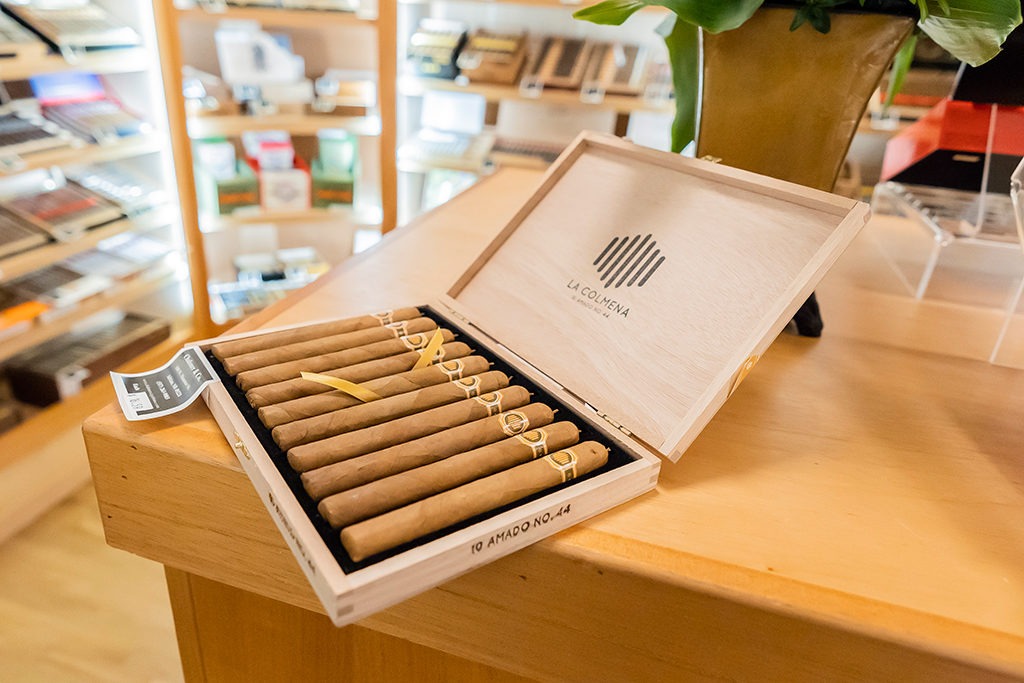 A box of La Colmena cigars at Chaloner's Cigar House in Adrian, MI